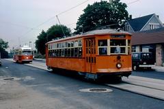 BER7 Type 5 5734 and MTA PCC 3295 (ironmike9) Tags: track rail lightrail trolley streetcar tram bostonelevatedrwy bery mbta transit publictransit pcc bostonma type5
