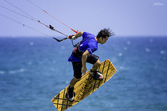 Kitesurfing (iosif.michael) Tags: nikon tamron sports watersports water sea sky blue athlete people cyprus kitesurfing