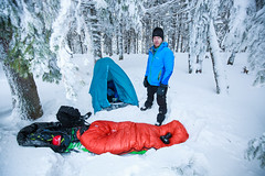 Me in mountain winter camp.