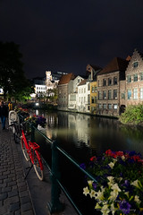 A Red Bicycle With Its Own Story (Timmy.M.Cheung) Tags: belgium ghent gent night nightview europe sony a7iii colorful color peaceful