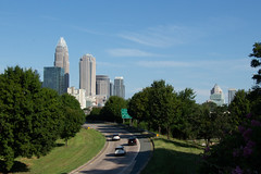 Charlotte, North Carolina (spacemike) Tags: northcarolina carolina charlotte charlottenorthcarolina charlottenc city sklyline cityscape scenic skyscraper skyscrapers highway road traffic building buildings uptowncharlotte uptown downtown