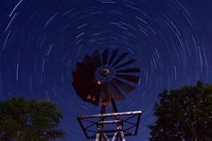 Windmill Star Trails (ARichardson03) Tags: space astrophotography trees backyard 18mm photography longexposure windmill darksky night d7200 nikon stars startrails photoshop adobe