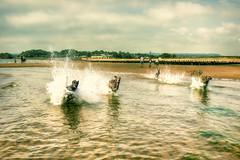 Fire Torpedoes! (rmrayner) Tags: sea water seaside running dawlishwarren longdogs topazadjust beachlurchers crossprocess slidersunday