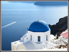 Cupola con vista (magister111) Tags: islandofsantorini grecia greece blue blu sea mare churches chiese