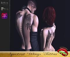 Spectral Wings (pyp.tattoos.makeup) Tags: unisex men women tattoos maitreya belleza jake slink omega pickyourpoison pyp beautiful sexy classy