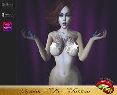 Queen -B- (pyp.tattoos.makeup) Tags: unisex women tattoos maitreya belleza slink omega pickyourpoison pyp beautiful sexy classy