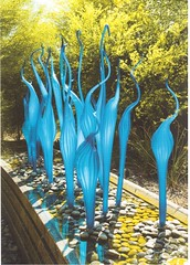 Postcrossing US-6135786 (booboo_babies) Tags: dalechihuly glass glassart arizona phoenix sculpture 2008 garden blue green art postcrossing
