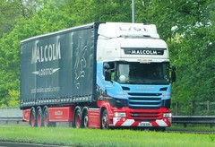 Malcolm Logistics Scania R450 SF16 SXK L761 (sab89) Tags: hgv lorry lorries truck trucks hgvs heavy goods vehicle