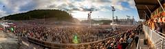 Metallica in Trondheim, Norway - Panorama (TAKleven) Tags: canoneos5dmarkii canonef24105lisusm panorama widepanorama extremepanorama crowd publikum stage scene concert konsert metallica music musikk live gig 39000people 39000tilskuere granåsen trondheim norge norway trøndelag