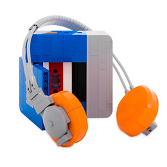 L square - Sony Walkman TPS- L2 (Attacki Works) Tags: lego square tile moc afol snot new design logo sony walkman tpsl2 retro classic cool headphone cassette player music 80s