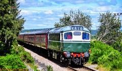 27106 @ Boat Of Garten (A J transport) Tags: class27 27106 d5394 27050 locomotive sulzer br green heritage strathspey railway trains nikkon d5300 dlsr scotland diesel