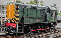 08490 @ Boat Of Garten (A J transport) Tags: class08 diesel d3605 locomotive 08490 herratige railway br green livery railways trains shunter