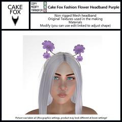 Cake Fox Fashion Flower Headband Purple (pienitiny) Tags: secondlife sl secondlifeevents slevents slfashion fashion freebies free gifts mieville new cakefox events accessories releases mievilleflowerfestival