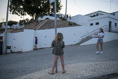 Daughter of a poledancer (' A r t ') Tags: ferie bergau travel portugal europa sun algarve bergua street sunset girl blond curls white buildings danish young sign pole dance poledance