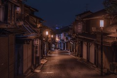 Kyoto (karinavera) Tags: city longexposure night photography cityscape urban ilcea7m2 sunset japan kyoto