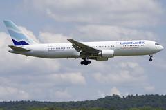 Euroatlantic Airways Boeing 767-300; CS-TKR@ZRH;14.07.2019 (Aero Icarus) Tags: zrh zürichkloten zürichflughafen zurichairport lszh plane avion aircraft flugzeug euroatlanticairways boeing767300 cstkr