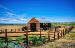 Horse Barn (Jerry Nelson Photography) Tags: barn fence field grass sky summer landscape scenic hdr
