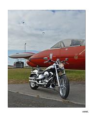 The 100th.. (Harleynik Rides Again.) Tags: 100th airfield parachute aircraft harleydavidson deuce fxstd bike motorcycle harleynikridesagain