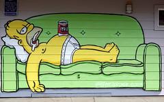 Drunk Homer (Slideshow Bruce) Tags: springfield oregon simpsons bayne gardner mural