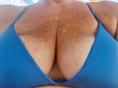 Boobies (cjacobs53) Tags: jacobsusa jacobs sher sherry blue cleavage freckle boob breast tit tittie natural sexy milf gilf hot wet gorgeous outstanding