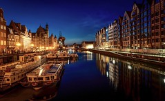 Gdańsk... more & more beautiful (Ula P) Tags: gdańsk nightshot poland light dusk river bluehour sony sonyalpha beautiful