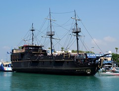 Black Pearl (Gerry Hill) Tags: black pearl pirate boat ayia napa cyprus agia tourist