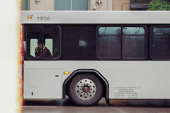 Bus Driver (Jovan Jimenez) Tags: nikon fm3a nikkor 55mm micro ais kodak gold 200 35mm film bus driver streetphotography lightleak