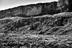 Sierra Ponce Cliffs (Black & White, Big Bend National Park)