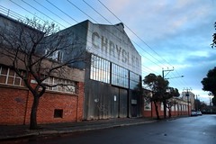 Chrysler (Darren Schiller) Tags: adelaide sign chrysler australia abandoned architecture advertising automotive building bricks closed clouds corrugatediron derelict disused decaying deserted dilapidated dusk empty evening facade factory galvanisediron history heritage industrial old rustic rusty southaustralia windows