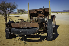 Held Together By Rust (gecko47) Tags: truck wreck rusted display roadhouse solitaire namibia desert swafrica
