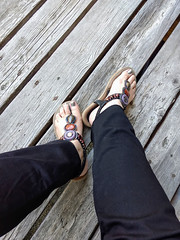 IMG_20190714_122900881~2 (eirenna_unveiled) Tags: foot feet sandals toes polishedtoes polishedtoenails legs