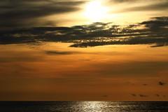 Sunset on the Gulf (Explore 7/15/19) (taddzilla) Tags: sunset clouds gulf gulfofmexico beach water sun reflection vacation englewoodbeach orange sky englewood florida 2019 allrightsreserved