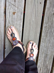 IMG_20190714_121032726_HDR~2 (eirenna_unveiled) Tags: foot feet sandals toes polishedtoes polishedtoenails legs