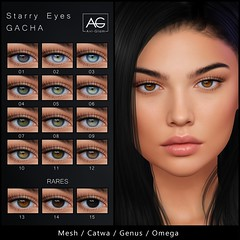 AG. Starry Eyes Gacha (Avi-Glam) Tags: aviglam ag mesh eyes second life sl