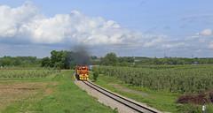 The Fruitridge (GLC 392) Tags: casnovia mqt marquette rail railroad railway train emd sd402 gp382 mi michigan fruit ridge turn crew apple orchard 3406 3407 3408 2043 smoke smoking clouds sky