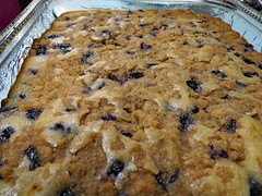 Homemade Blueberry Buckle. (dccradio) Tags: lumberton nc northcarolina robesoncounty indoor indoors inside cake buckle blueberry blueberrybuckle coffeecake freshbaked food eat sweet dessert treat yum july weekend summer summertime sunday evening goodevening sundayevening canon powershot elph 520hs