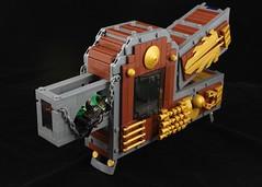 R-Wing Cockpit (davekaleta) Tags: lego spaceship space steampunk alphabet letter starfighter