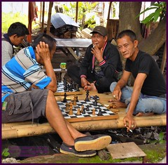 Cirebon Java Chess 20190328_110857 DSCN4239 (CanadaGood) Tags: people color colour building indonesia person java asia seasia westjava indonesian asean cirebon javanese 2019 canadagood thisdecade tree chess smoking