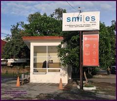 Cirebon Java Smiles 20190328_070921 LG (CanadaGood) Tags: color colour indonesia java asia seasia westjava indonesian asean cirebon javanese 2019 canadagood thisdecade building hotel sign advertising parking people person