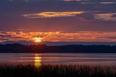 Last Seconds of Sunset (donnicky) Tags: clouds evening forest grass horizon idyllic lake landscape naturallight nature nopeople outdoor publicsec reflection scenic sky skyline sun sunset tranquility water d850