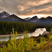 At the bend (NUNZG) Tags: canadian rockies mountains sunset landscape nature banff national park alberta