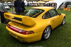 Porsche 911 Carrera RS 993 (Hunter J. G. Frim Photography) Tags: supercar london concours porsche 911 carrera rs 993 porsche911carrerars993 german yellow i6 wing manual