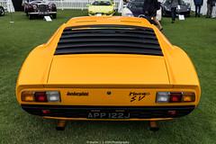 Lamborghini Miura (Hunter J. G. Frim Photography) Tags: supercar london concours lamborghini miura p400 s sv manual v12 white yellow orange green classic vintage lamborghinimiura lamborghinimiuras lamborghinimiurasv
