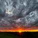 Starburst sunset (johnsdigitaldreams.com) Tags: 20mm a7rm2 johnchandler nikkor20mmaissonyalpha sony addicksreservoir johnsdigitaldreamscom sunset tiltshift