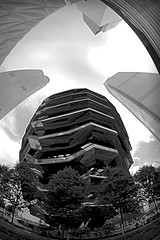 Hudson Yards plaza (sjnnyny) Tags: hudson yards bw hudsonyards vessel nyc d7500 stairs highrises sjnnyny stevenj manhattan