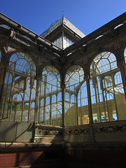 (eelend) Tags: colour madrid sunlight shadow retiro park glass palace windows sky original