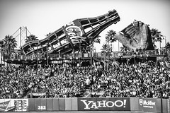 Take Me Out to the Ball Game (Thomas Hawk) Tags: attpark america bayarea california cocacola giants sf sfbayarea sfgiants sanfrancisco sanfranciscogiants us usa unitedstates unitedstatesofamerica yahoo ballpark baseball baseballgame bw neon fav10 fav25