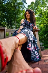 Lunara-103 (TheseusPhoto) Tags: girl female woman model modeling portrait portraiture artportrait artphoto artistic pose glamour color dress outdoors heels fashion hair style wideangle perspective look
