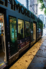 Ze @KenmoreAir Streetcar With Doors Open (AvgeekJoe) Tags: d7500 dslr kingcounty nikon nikond7500 seattle seattlestreetcar southlakeunionline southlakeuniontrolley usa washington washingtonstate masstransit publictransit publictransportation streetcar tram urbanrail