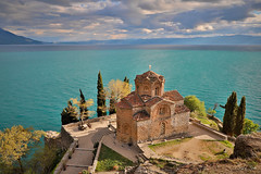 Church of St John in Ohrid  (in Explore) (cheryl strahl) Tags: balkans macedonia thechurchofstjohnatkaneo stjohn macedoniaorthodoxchurch 13rhcentury church orthodox lakeohrid ohrid kaneo ngc explore flickrexplore